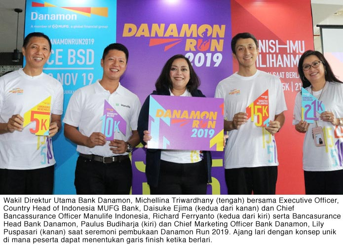 Bank Danamon Gelar Danamon Run 2019